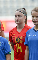 20180904 - LEUVEN , BELGIUM : Belgian Davinia Vanmechelen pictured during the female soccer game between the Belgian Red Flames and Italy , the 8th and last game in the qualificaton for the World Championship qualification round in group 6 for France 2019, Tuesday 4 th September 2018 at OHL Stadion Den Dreef in Leuven , Belgium. PHOTO SPORTPIX.BE | DAVID CATRY