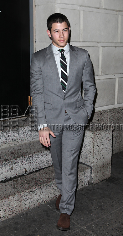Nick Jonas attending the Broadway Opening Night Performance of 'Cat On A Hot Tin Roof' at the Richard Rodgers Theatre in New York City on 1/17/2013