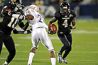 12 November 2011:  FIU wide receiver T.Y. Hilton (4) runs after pulling in a reception in the second quarter as the FIU Golden Panthers defeated the Florida Atlantic University Owls, 41-7, to win the annual Shula Bowl game, at FIU Stadium in Miami, Florida.
