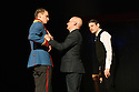 London, UK. 08.02.2017.  Complicite and Schaubuhne Berlin present BEWARE OF PITY, by Stefan Zweig, in the Barbican Theatre. Picture shows: Laurenz Laufenberg, Robert Beyer, Christoph Gawenda. Photograph © Jane Hobson.