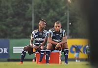 SÃO PAULO,SP, 26.05.2015 - FUTEBOL-PALMEIRAS - Kelvin(E) e Vitor Hugo(D) do Palmeiras durante o treinamento do Palmeiras na Academia de Futebol, na Barra Funda zona oeste nesta terça-feira, 26.  (Foto: Bruno Ulivieri/Brazil Photo Press)