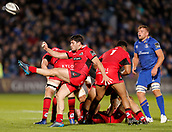 29th September 2017, RDS Arena, Dublin, Ireland; Guinness Pro14 Rugby, Leinster Rugby versus Edinburgh; Sam Hidalgo-Clyne of Edinburgh clears the ball
