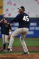 Brooklyn Cyclones pitcher Pedro P. Martinez (45) during first team workout at MCU Park in Brooklyn, NY June 15, 2010.  Photo By Tomasso DeRosa/Four Seam Images