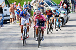 Thibaut Pinot (FRA) FDJ, Nairo Quintana (COL) Movistar Team Maglia Rosa, Ilnur Zakarin (RUS) Katusha Alpecin, Vincenzo Nibali (ITA) Bahrain-Merida and Domenico Pozzovivo (ITA) AG2R La Mondiale during Stage 20 of the 100th edition of the Giro d'Italia 2017, running 190km from Pordenone to Asiago, Italy. 27th May 2017.<br /> Picture: LaPresse/Fabio Ferrari | Cyclefile<br /> <br /> <br /> All photos usage must carry mandatory copyright credit (&copy; Cyclefile | LaPresse/Fabio Ferrari)