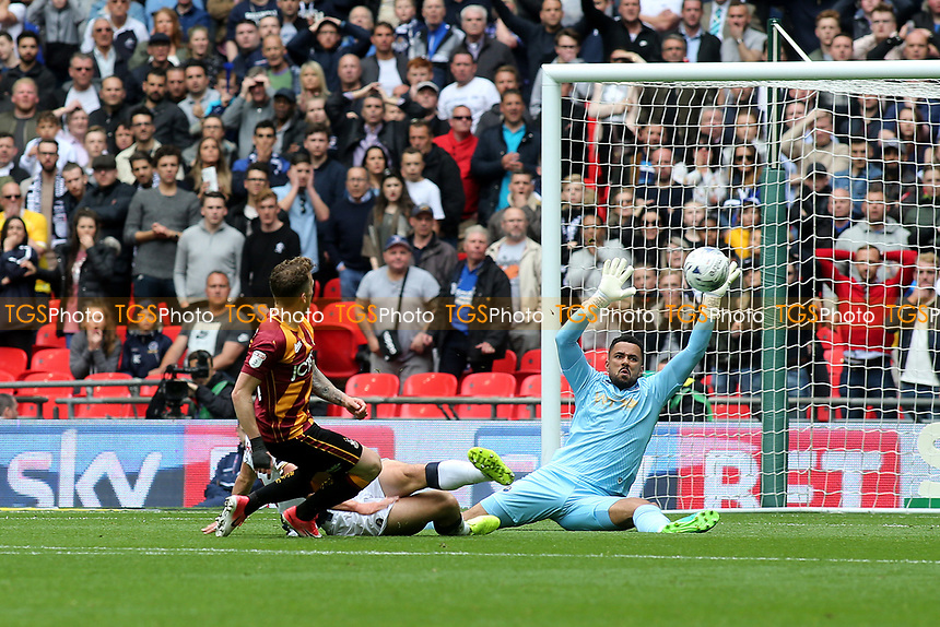 Millwall's Jordan Archer makes a fine save during Bradford City vs Millwall, Sky Bet EFL League 1 Play-Off Final at Wembley Stadium on 20th May 2017