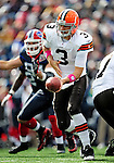 11 October 2009: Cleveland Browns' quarterback Derek Anderson sets to make a handoff during a game against the Buffalo Bills at Ralph Wilson Stadium in Orchard Park, New York. The Browns defeated the Bills 6-3 for Cleveland's first win of the season...Mandatory Photo Credit: Ed Wolfstein Photo
