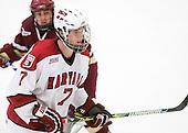 Chad Morin (Harvard - 7) - The Boston College Eagles defeated the Harvard University Crimson 3-2 on Wednesday, December 9, 2009, at Bright Hockey Center in Cambridge, Massachusetts.