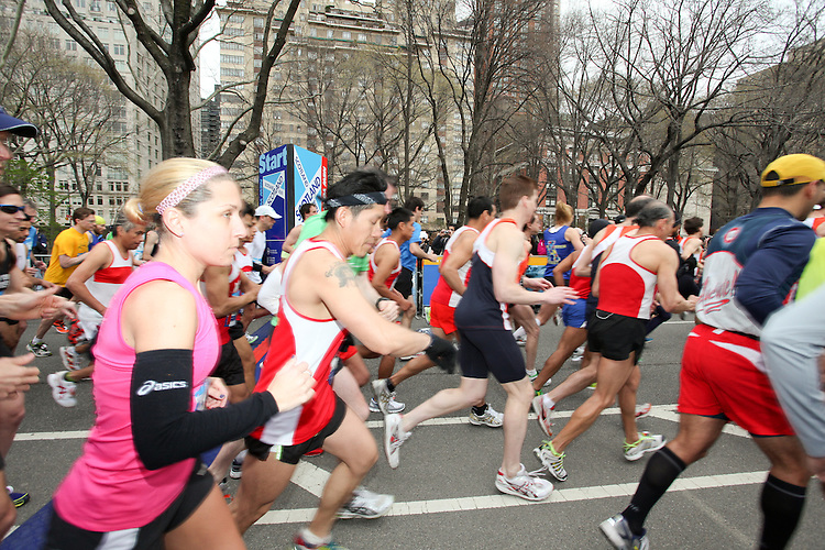 NEW YORK - APRIL 10: Scenes from Central Park Scotland Day Run NYC April 10, 2011 in New York City. (Photo by Donald Bowers)