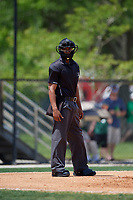 Umpire Hardie Acosta during a Florida State League game between the Clearwater Threshers and Dunedin Blue Jays on April 7, 2019 at Jack Russell Memorial Stadium in Clearwater, Florida.  Dunedin defeated Clearwater 2-1.  (Mike Janes/Four Seam Images)