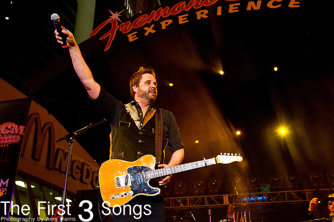 Randy Houser performs during the 2013 ACM Concerts at Fremont Street Experience Event in Las Vegas, Nevada.