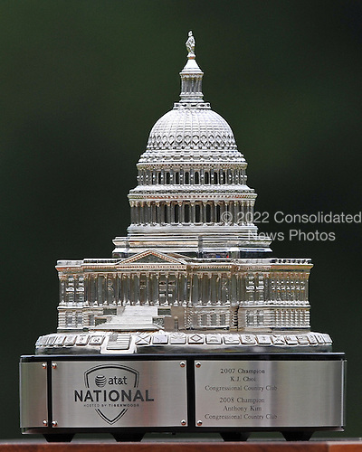 Bethesda, MD - July 5, 2009 -- Close-up of the trophy awarded to the victor of the AT&T National Hosted by Tiger Woods at Congressional Country Club in Bethesda, Maryland on Sunday, July 5, 2009.  This is the third year of the tournament and was won by Tiger Woods by 1 stroke over Hunter Mahan..Credit: Ron Sachs / CNP