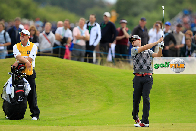 Zach Johnson (USA) plays his 2nd shot on the 14th hole during Thursday's Round 1 of the 141st Open Championship at Royal Lytham & St.Annes, England 19th July 2012 (Photo Eoin Clarke/www.golffile.ie)