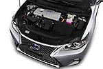 Car stock 2018 Lexus CT Executive Line 5 Door Hatchback engine high angle detail view