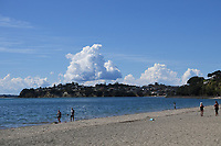 1st April 2020, Kohi Beach, Auckland, New Zealand;  General view of people swiming and at the beach at Kohi Beach during the lockdown due to Covid-19. Kohimarama, Auckland, New Zealand on Wednesday 1 April 2020.