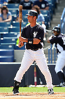 New York Yankees Jorge Posada #20 during a Spring Training game vs the Houston Astros at George M. Steinbrenner Field in Tampa, Florida;  March 2, 2011.  New York defeated Houston 6-5.  Photo By Mike Janes/Four Seam Images