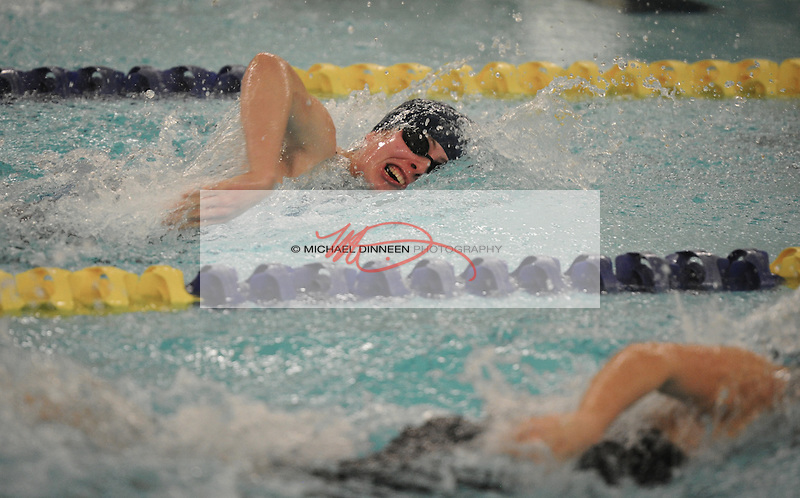 Chugiak's Addison Morgan in the 200 Freestlyle at Bartlett High Saturday, Oct. 29, 2016.  Photo for the Star by Michael DInneen