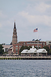 Charleston Waterfront Park and St Josephs church steeple