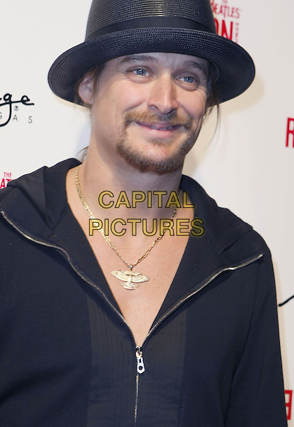 "KID ROCK .Fergie and Quentin Tarantino Celebrate Birthday ""Love"" At The Beatles Revolution Lounge inside the Mirage Hotel Casino, Las Vegas, USA, .27 March 2008..portrait headshot  black hat shirt zip-up top gold necklace .CAP/ADM/MJT.©MJT/Admedia/Capital Pictures"