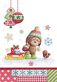 Sharon, CHRISTMAS ANIMALS, WEIHNACHTEN TIERE, NAVIDAD ANIMALES, GBSS, paintings+++++,GBSSC50XFC3,#XA#