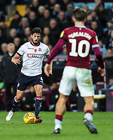Bolton Wanderers' Jason Lowe competing with Aston Villa's Jack Grealish<br /> <br /> Photographer Andrew Kearns/CameraSport<br /> <br /> The EFL Sky Bet Championship - Aston Villa v Bolton Wanderers - Friday 2nd November 2018 - Villa Park - Birmingham<br /> <br /> World Copyright &copy; 2018 CameraSport. All rights reserved. 43 Linden Ave. Countesthorpe. Leicester. England. LE8 5PG - Tel: +44 (0) 116 277 4147 - admin@camerasport.com - www.camerasport.com