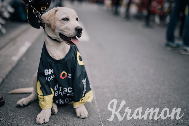 Team Direct Energie fan at the start<br /> <br /> 104th Tour de France 2017<br /> Stage 11 - Eymet &rsaquo; Pau (202km)