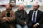 Knesset member Shaul Mofaz visits the protest tent for captive soldier Gilad Schalit outside the Israeli Prime Ministers house on March 15, 2009. Prime Minister Olmert said they will decide on a deal to free schalit by Monday. .Photo: Maya Levin / Jini