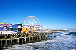 California: Los Angeles area. Santa Monica Pier..Photo: cabeve104..Photo copyright Lee Foster, 510/549-2202, lee@fostertravel.com, www.fostertravel.com..Photo #: cabeve104
