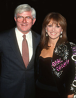 Phil Donahue Marlo Thomas Undated<br /> Photo By John Barrett/PHOTOlink