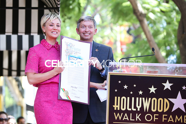 HOLLYWOOD, LOS ANGELES, CA, USA - OCTOBER 29: Kaley Cuoco, Leron Gruber at the ceremony honoring Kaley Cuoco with a star in the Hollywood Walk Of Fame on October 29, 2014 in Hollywood, Los Angeles, California, United States. (Photo by Xavier Collin/Celebrity Monitor)