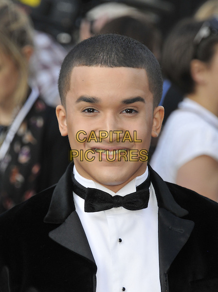 Jahmene Aaron Douglas<br /> 'World War Z' world premiere, Empire cinema, Leicester Square, London, England 2nd June 2013 <br /> headshot portrait black white bow tie tuxedo<br /> CAP/DS<br /> &copy;Dudley Smith/Capital Pictures