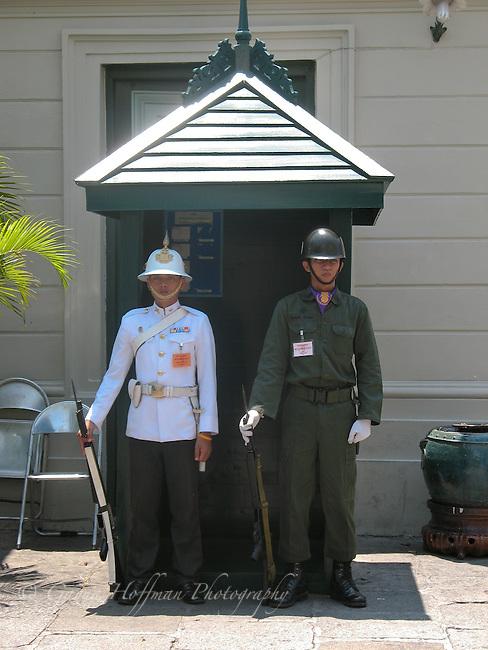 The Grand Palace guard. Bangkok, Thailand
