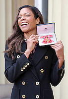 23 February 2017 - Naomie Harris during an Investiture Ceremony at Buckingham Palace in London. Photo Credit: ALPR/AdMedia