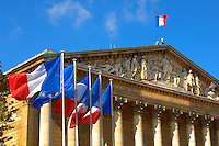 Paris - France - National Assembly - French Flag