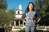 Amber Thai '15, for use in Homecoming brochure. (Photo by Marc Campos, Occidental College Photographer)