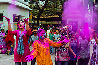 Holi (festival of colors), Mathura, Uttar Pradesh, India.