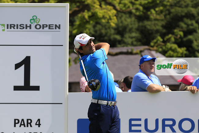 Felipe Aguilar (CHI) during Wednesday's Pro-Am of the 2014 Irish Open held at Fota Island Resort, Cork, Ireland. 18th June 2014.<br /> Picture: Eoin Clarke www.golffile.ie