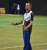 MONTERÍA - COLOMBIA ,30-01-2019:John Bodmer director técnico de Jaguares de Córdoba reacciona durante el encuentro contra el Deporivo Cali   partido por la fecha 2 de la Liga Águila I 2019 jugado en el estadio Municipal Jaraguay de Montería . / John Bodmer coach of Jaguares of Cordoba agaisnt of Deportivo Cali  during the match for the date 2 of the Liga Aguila I 2019 played at Municipal Jaraguay Satdium in Monteria City . Photo: VizzorImage / Andrés Felipe López  / Contribuidor.