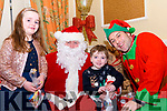 Seen at The Towers Hotel Christmas Fayre visiting Santa's Grotto<br /> Molly &amp; R&Igrave;an O'Sullivan from Glenbeigh with Santa and his Elf