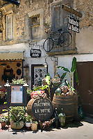 Tropea, Calabria, Italy, May 2007. Trattoria La Botte also adds flavour to its furniture. The historical town of Tropea contrasts against the turquoise water of the sea. Many picturesque towns line the mountainous coastline of Calabria. Photo by Frits Meyst/Adventure4ever.com
