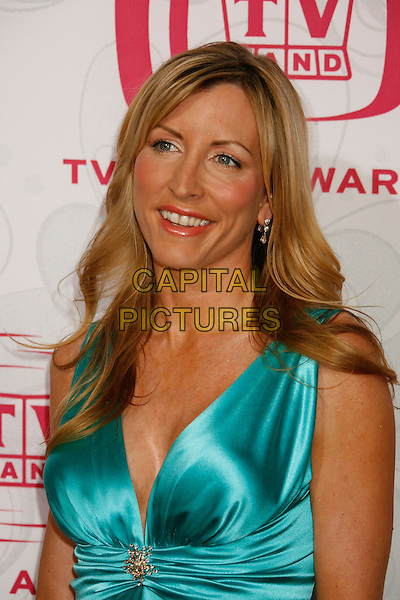 HEATHER MILLS.Attending the 5th Annual TV Land Awards - Arrivals,.held at Barker Hangar, Santa Monica, California, .USA, 14 April, 2007..portrait headshot turquoise blue silk satin dress.CAP/ADM/RE.©Russ Elliot/AdMedia/Capital Pictures.