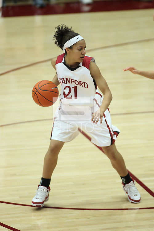 30 December 2007: Rosalyn Gold-Onwude during Stanford's 77-42 win over the University of Washington at Maples Pavilion in Stanford, CA.