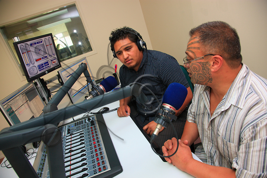 Program broadcast in the Maori language on the community radio of Whakatane.