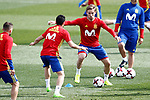 Spain's Nacho Monreal (r) and Pedro Rodriguez during training session. March 21,2017.(ALTERPHOTOS/Acero)