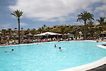 Barcelo Lanzarote hotel swimming pool, Lanzarote, Canary islands, Spain