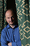 Jeffrey Eugenides american author poses for a portrait to promote his book in France.