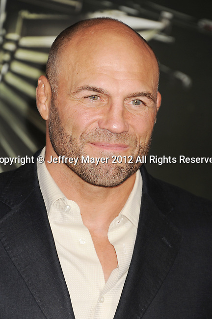 HOLLYWOOD, CA - AUGUST 15: Randy Couture arrives at the 'The Expendables 2' - Los Angeles Premiere at Grauman's Chinese Theatre on August 15, 2012 in Hollywood, California.