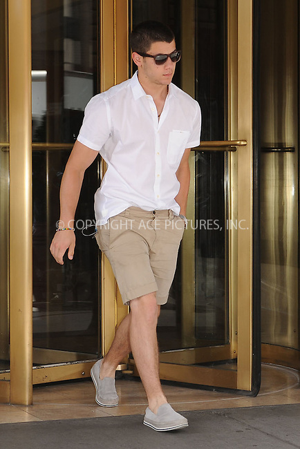 WWW.ACEPIXS.COM . . . . . .July 10, 2012...New York City....Nick Jonas steps out in Chelsea on July 10, 2012 in New York City. ....Please byline: KRISTIN CALLAHAN - WWW.ACEPIXS.COM.. . . . . . ..Ace Pictures, Inc: ..tel: (212) 243 8787 or (646) 769 0430..e-mail: info@acepixs.com..web: http://www.acepixs.com .
