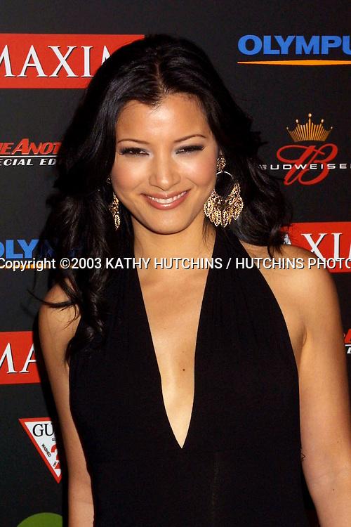"©2003 KATHY HUTCHINS / HUTCHINS PHOTO AGENCY.MAXIM'S ""HOT 100"" PARTY.LOS ANGELES, CA.JUNE 11, 2003..KELLY HU"