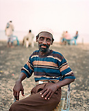 ERITREA, Massawa, Abdullah waits for his coffee at an outdoor cafÈ by the Port of Massawa