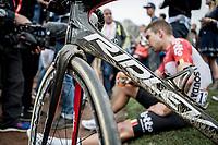 Jens Debusschere (BEL/Lotto Soudal) post race. <br /> <br /> 116th Paris-Roubaix (1.UWT)<br /> 1 Day Race. Compiègne - Roubaix (257km)